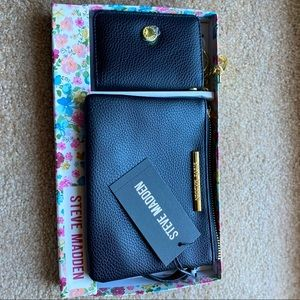 Steve Madden leather Wallet and Pouch combo